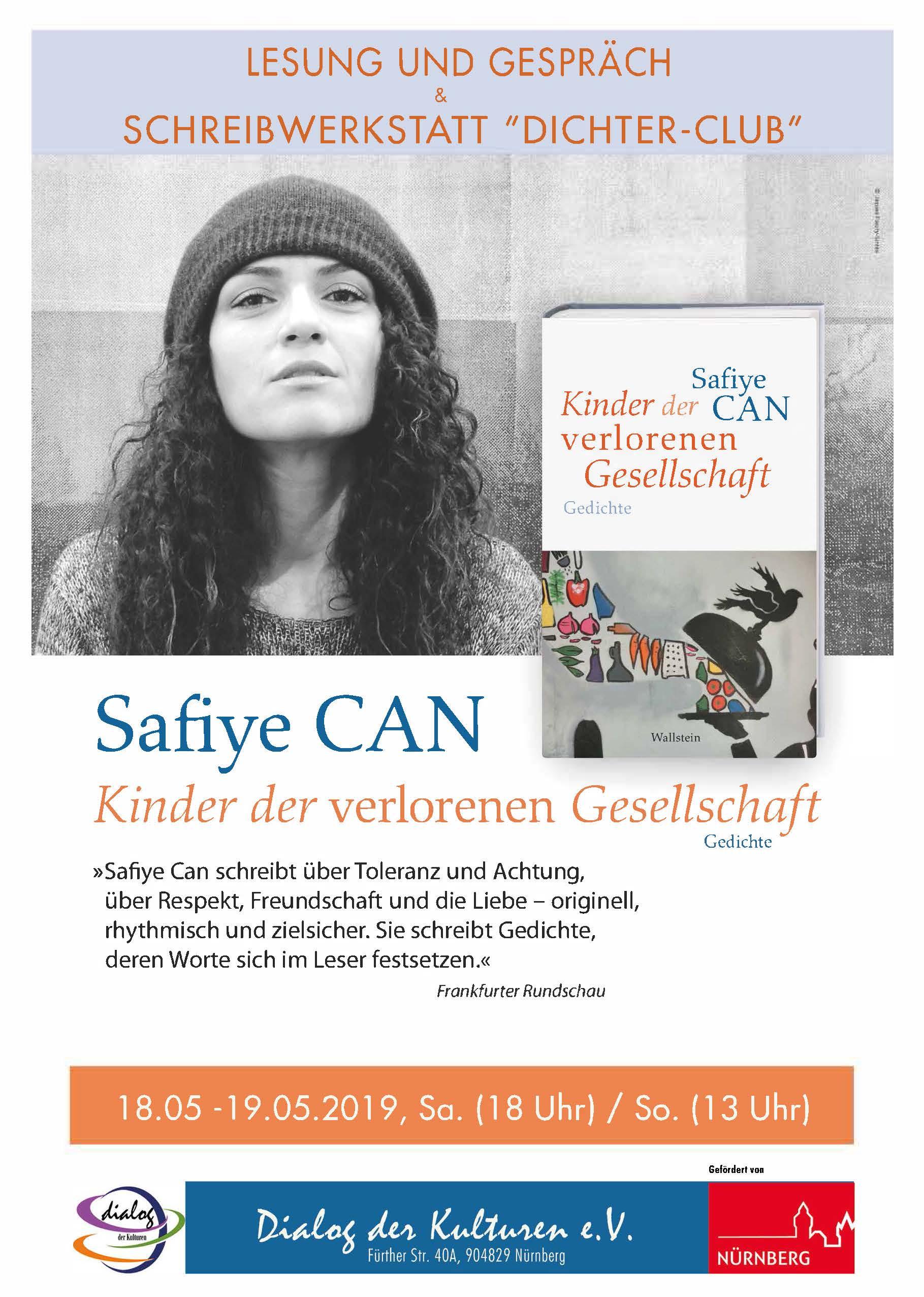 Lesung Und Gespräch Schreibwerkstatt Safiye Can